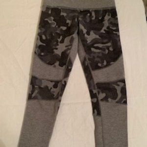Girls Gray Camouflage Nike Tights